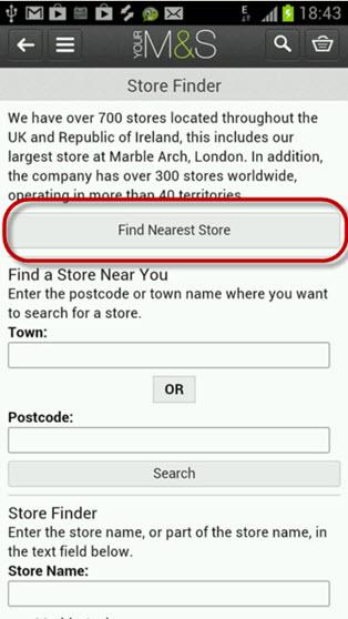 3 - Store Locator Fail